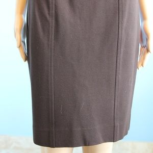 Cache Skirts - Cache Contour Brown Fitted Gold Buckle Skirt